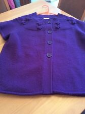 ladies clothes size large Country Casuals Purple Wool Mix Knit Cardigan