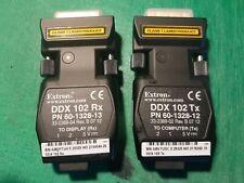 Extron DDX 102 Tx and Rx Dual Link DVI Fiber Optic Extender pair