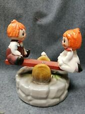 Vintage Raggedy Ann And Andy Teeter Totter And Puppy Music Box Plays Where Is.