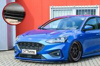 Spoilerschwert Frontspoiler ABS Ford Focus 4 DEH ST-Line mit ABE Schwarz Glanz