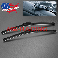 "24"" & 18"" INCH One Pair Windshield Wiper Blades Bracketless J-HOOK OEM QUALITY"