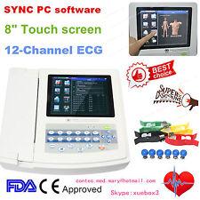 12 ch ECG EkG machine électrocardiographe usb LOGICIEL PC ECG1200G ce CONTEC HOT