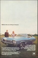 1968 Classic Car Ad Buick Skylark blue 2dr sports coupe 101517