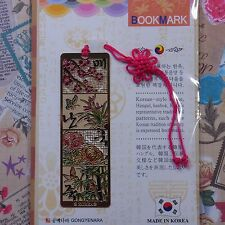 Metal Bookmark Korea Traditional Pattern Four Gracious Plants  Freeshipping