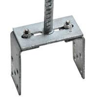Pfostenträger verstellbar mit Dolle für Pfosten 70-120 mm feuerverzinkt Zaun