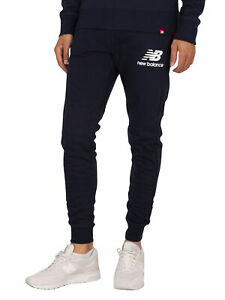 New Balance Men's Essential Stack Logo Slim Joggers, Blue