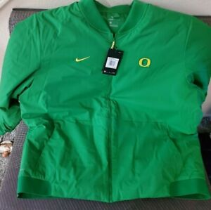 NIKE OREGON DUCKS ON FIELD SHIELD APPLE GREEN BOMBER JACKET 3XL NWT $200