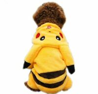Pikachu Cosplay Dog Jumpsuits Jacket Pet Costume Small Dog Cat Christmas Clothes