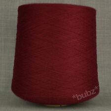 OXBLOOD 2/30s YARN 1,000g CONE RED BORDEAUX 2 PLY INDUSTRIAL KNITTING MACHINE