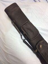 J&J Black Angora Pool Cue Case For 2 Butt 4 Shafts 2x4 W/ Free Shipping !!