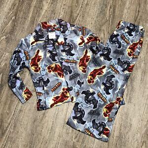 NWT Marvel Iron Man 2 Fleece Shirt & Pants 2 Piece Pajamas Set ~ Gray ~ Sz 4
