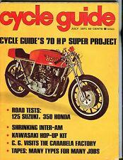 Cycle Guide Magazine July 1971 70 HP Super Project 125 Suzuki 071317nonjhe