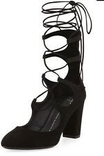 Giuseppe Zanotti Bebe Suede Lace-Up 85mm Pump 35 $995