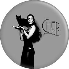 """Magnet - Cher Dark Lady Album Art Pop Music 1970s Singer Cat  2.25"""" Fridge 31180"""