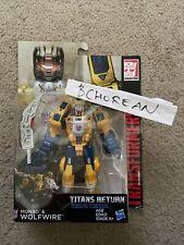 Transformers Titans Return Weirdwolf Wolfwire + Headmaster Monxo deluxe class