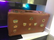 Vintage Retro Camping Case Suitcase Travel  VW Camper Bug Beetle Rat Look Patina