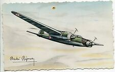 CARTE POSTALE AVIATION ANDRE REGNIER AMIOT 340 BOMBARDEMENT