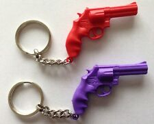 Revolver Pistol .357 Magnum Key Chain Red Or Purple Handgun Smith And Wesson