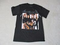 NEW Metallica Concert Shirt Adult Medium Black Rock Band Music Tour Rocker Mens