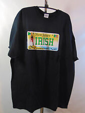 NEW JERSEY IRISH SHORE TO PLEASE SHORT SLEEVE BLACK T-SHIRT SIZE XLARGE