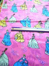 "Princess Trio Allover cotton flannel fabric-Springs Creative Products 27""x 41"""