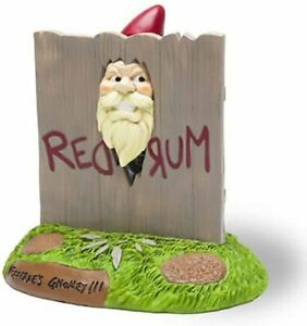 Big Mouth SHINING HERE'S GNOMEY Garden GNOME STATUE Novelty Outdoor
