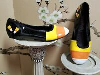 NWOB Funtasma Candykorn Shoes Halloween Dress Shoes Candy Corn PLEASE READ SIZE