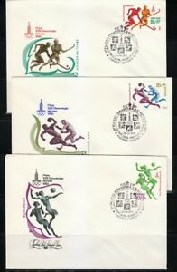 Russia 1979 set of 5 FDC covers Moscow-80 Olympic Games Ball games Sc B91-B95