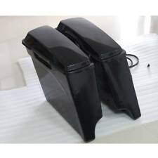 """5"""" Unpainted Extended Hard Saddle Bags Saddlebags for Harley Touring Road Glide"""