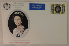 Queen Elizabeth Silver Jubilee Collectible Stamps 1952-1977 on Postcards (two)