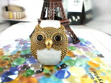 White Vintage punk oil owl friendship bracelet