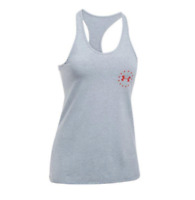 Under Armour Freedom Land Of The Free Tank Women's LG Gray 1298026 *NWT*