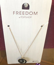 TOPSHOP Freedom New Pretty Star Circle Dish Elegant Necklace Jewellery RRP £8.50