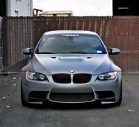 08-13 BMW E92 M3 Front 2pc Bumper Lip Spats Extensions Splitter PU Black New UK