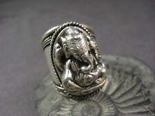 R1001 Elephant Head Hindu God Ganesha Bold Fashion Tibetan Silver Ring Jewelry