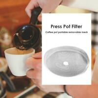 3pcs Metal Filtering Net Replacement 80 Mesh French Coffee Screen Strainer