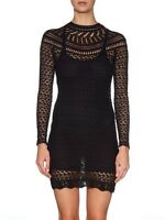 ISABEL MARANT DAVY BLACK CROCHET DRESS FR 38 UK 10 IT 42 US 6