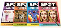 NEW Lot 4 Spot The Difference Puzzle Books Papp Test Your Powers Exercise Brain!