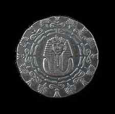 Old World Style Egyptian King Tut W/Pyramid 1/4 oz .999 Silver Antiqued US Round