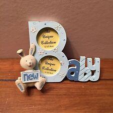 Nouveau Bébé Cadre Photo Cadre Photo Bébés Cadre Photo Bleu Lapin Design