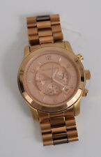Michael Kors Watch Rose Gold Tone Chronograph 45mm Runway Oversized MK8096