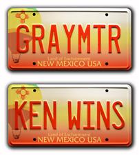 Breaking Bad Heisenberg   GRAY MTR + KEN WINS   STAMPED Prop License Plate Combo