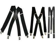 Unisex Men Ladies Black BRACES ELASTIC Durable Strong 25mm 35mm 50mm WIDE