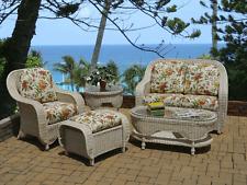 Brand New All Weather Wicker Peninsula Five Piece Outdoor Living Set