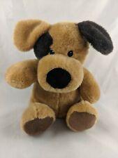 "Dog Plush Tan Black 8"" Anico Int'l Stuffed Animal"