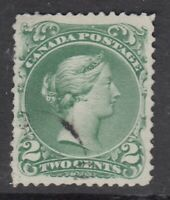 "Canada Scott #24  2 cent green ""Large Queen""  F-VF"