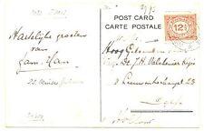 NEDERLAND  S.M.N. 1922  AK SHIP =S.S. PRINCES JULIANA= POSTAGENT ST.  F/VF