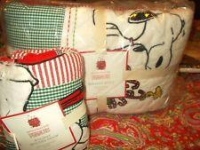 Pottery Barn Kids Peanuts Christmas Quilt, Twin, 1 Standard Sham, New, Cute Cute