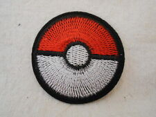 POKEMON  GO BALL  NEW EMBROIDERED  SEW/ IRON ON NAME PATCH TAG
