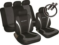 VOLKSWAGEN VW PASSAT Universal SPORTS Car Seat Cover Pack BLACK & GREY